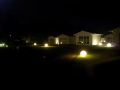 Abgespacter Häuserpark des Hotelsressorts Havelland.